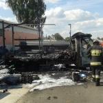 Pożar pojazdu dostawczego w Międzyrzeczu