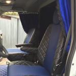 wygodny bus fotel firanki