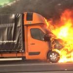 Pożar polskiego busa na autostradzie M2 w Anglii