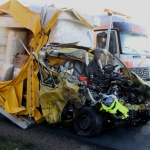 Wypadek polskiego busa w Niemczech. Kierowca zginął na miejscu