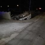 Pijany kierowca dachował Partnerem
