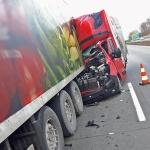 Wypadek na A4 w okolicach zjazdu na Jawsin.
