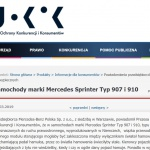 Prawie 400 Mercedesów Sprinter 907 i 910 do serwisu.